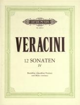 Veracini Francesco Maria - 12 Sonatas Op.1 Vol.4 - Recorder