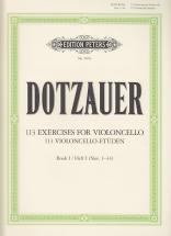 Dotzauer Friedrich - 113 Exercices Vol.1 (n° 1-34) - Violoncelle