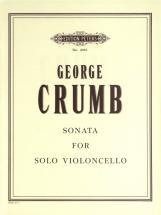 Crumb George - Sonata - Cello