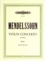 Mendelssohn Felix - Violin Concerto In D Minor - Full Score