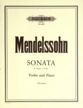 Mendelssohn Felix - Violin Sonata In F - Violin And Piano