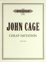 Cage John - Cheap Imitation - Violin Solo
