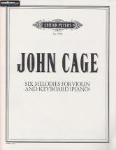 Cage John - Six Melodies For Violin And Keyboard (piano)
