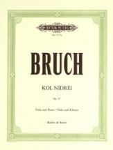 Bruch Max - Kol Nidrei Op.47 - Viola And Piano