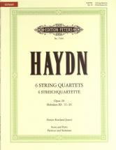 Haydn Joseph - The 6 String Quartets Op.20 (full Score & Parts) - String Quartets
