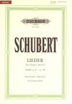 Schubert Franz - Songs Vol 4 - Voice And Piano (par 10 Minimum)