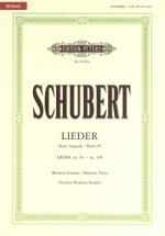 Schubert Franz - Songs Vol.4: 45 Songs - Voice And Piano (par 10 Minimum)