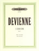 Devienne François - 3 Duos Op.5 For Viola And Flute - Flute(s) And Other Instruments