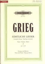 Grieg Edvard - Complete Songs Vol.1 - Voice And Piano (par 10 Minimum)