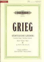 Grieg Edvard - Complete Songs Vol.2 - Voice And Piano (par 10 Minimum)