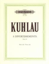 Kuhlau Friedrich - 6 Divertissements Op.68 - Flute/piccolo