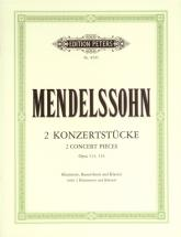 Mendelssohn Felix - 2 Concert Pieces Op.113/114 - 2 Clarinets And Piano