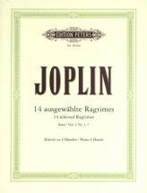 Joplin Scott - 14 Selected Ragtimes Vol 1 - Piano 4 Hands