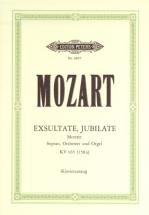 Mozart Wolfgang Amadeus - Exsultate, Jubilate K165 - Voice And Piano (par 10 Minimum)