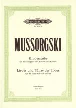 Mussorgsky Modest - The Nursery (kinderstube) Songs And Dances Of Death - Voice And Piano (par 10 Mi