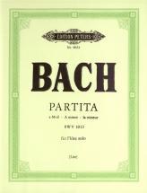 Bach Johann Sebastian - Partita In A Minor (sonata) Bwv 1013 - Flute/piccolo