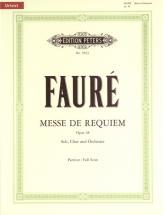 Fauré Gabriel - Requiem Op. 48 - Full Scores