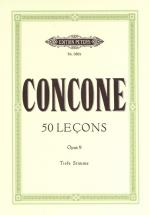 Concone Giuseppe - 50 Lecons Op 9 - Low Voice And Piano (par 10 Minimum)