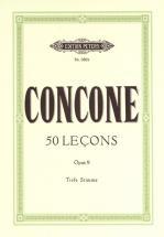 Concone Giuseppe - 50 Lecons Op 9 - Low Voice And Piano (par 10 Minimum)