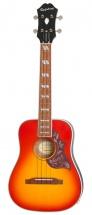 Epiphone Hummingbird Acoustic/electric Ukulele Outfit Tenor Faded Cherry Sunburst