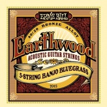 Ernie Ball Earthwood 5 Cordes Banjo Blugrass 9-9 2063