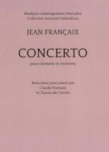Francaix Jean - Concerto Pour Clarinette and Piano