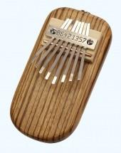 Ethno Bdzw-e - Kalimba Electro Acoustique 8 Notes Diatonique - Bois Zebre (made In Usa)
