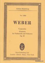 Weber Carl Maria Von - Concerto (fantasie) For Violoncello And Orchestra Op.20 - Conducteur