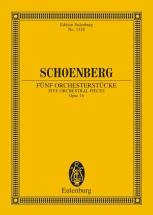 Schoenberg Arnold - 5 Orchestral Pieces Op. 16 - Orchestra