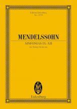 Mendelssohn Bartholdy Felix - Sinfonias Ix-xii - String Orchestra