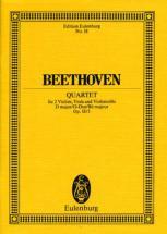 Beethoven Ludwig Van - String Quartet D Major Op 18/3 - String Quartet