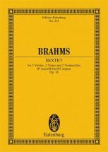 Brahms Johannes - String Sextet Bb Major Op. 18 - 2 Violins, 2 Violas And 2 Cellos