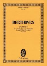 Beethoven Ludwig Van - String Quartet F Major Op 14/1 Ii - String Quartete