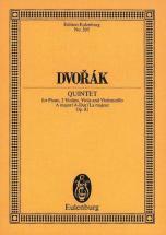 Dvorak Antonin - Piano Quintet A Major Op. 81 B 155 - Piano, 2 Violins, Viola And Cello