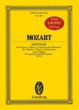 Mozart W.a. - Serenade A 8 E Flat Major  Kv 375 - 2 Horns, 2 Oboes, 2 Clarinets And 2 Bassoons