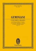 Geminiani Francesco - Concerto Grosso E Minor Op 3/3 - String Quartet And String Orchestra
