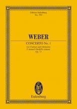 Weber Carl Maria Von - Concerto No 1 F Minor Op 73 Jv 114 - Clarinet And Orchestra