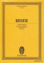Reger M. - Variations On A Theme Of Mozart For Orchestra Op.132 - Conducteur
