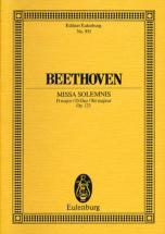 Beethoven Ludwig Van - Missa Solemnis Op 123 - 4 Soli, Chorus And Orchestra