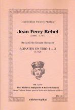 Rebel J-f - Recueil De Douze Sonates (8-12) - 2 Violons and Bc