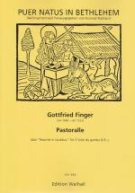 Finger G. - Pastoralle - 3 Violes De Gambe Et Bc