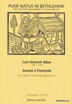 Biber C.h. - Sonata A Pastorale - 2 Violons, Basson Et Bc