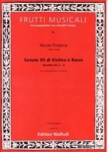 Porpora Nicola - Sonate Xii Di Violino E Basso, Sonaten Nr 2-4