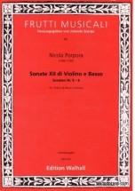 Porpora Nicola - Sonate Xii Di Violino E Basso, Sonaten Nr 5-6