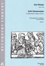 Rosier C. - Acht Solo-sonaten Band Ii (nr. 5-8) - Altblockflöte Und B.c.