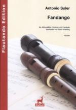 Soler Antonio - Fandango - Flute A Bec Alto and Clavecin