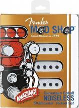 Fender Micro Stratocaster Pickups (sets Of 3) Samarium Cobalt Noiseless Strat Black