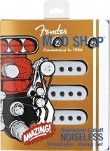 Fender Micro Stratocaster Pickups (sets Of 3) Samarium Cobalt Noiseless Strat Parchment