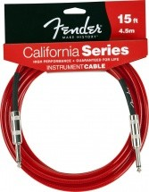 Fender California Serie Cable Pour Instrument 4m50 Rouge