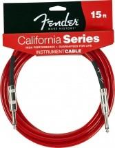 Fender California Serie Cable Pour Instrument 6m Rouge